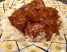 "Keto, low-carb, Indian butter chicken over ""rice"" – 4.8 grams carbs per serving"