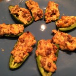 Zesty Low-Carb Jalapeno Peppers Stuffed With Sausage and Cheese