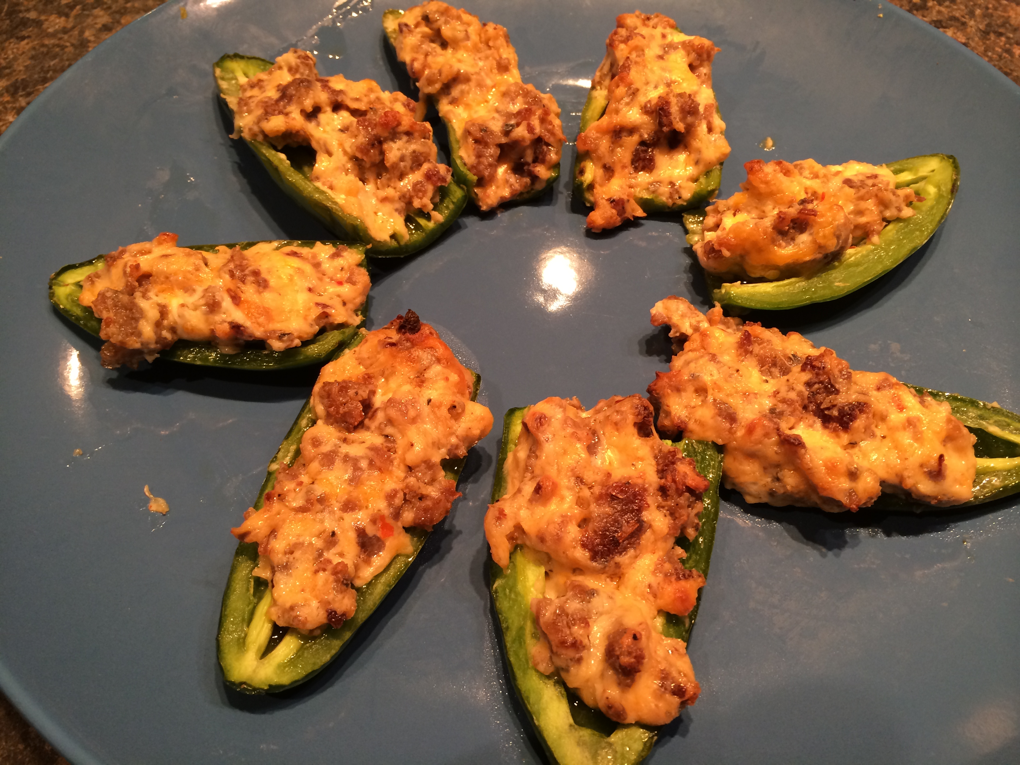 Zesty Low Carb Jalapeno Peppers Stuffed With Sausage And